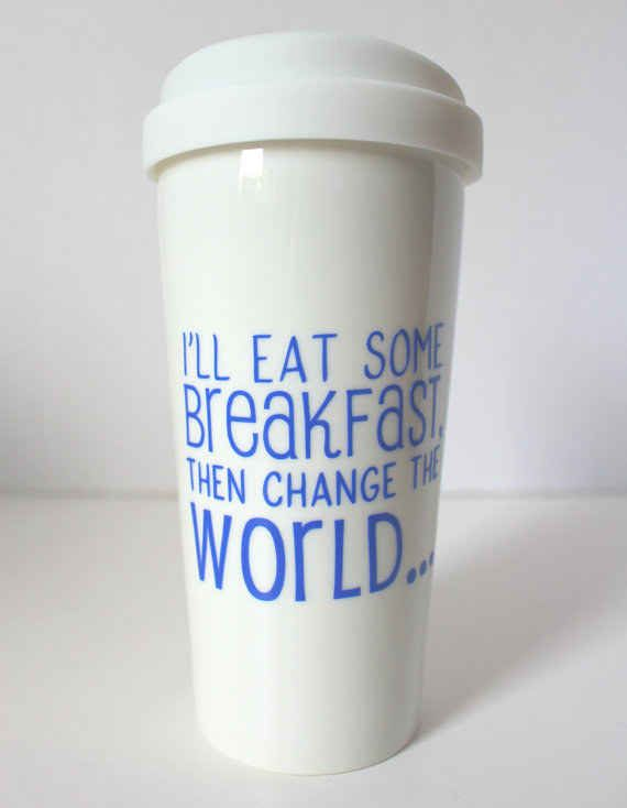 This Hairspray-inspired optimistic way to start your day. - Representing a killer musical AND life motto. Its an idea!