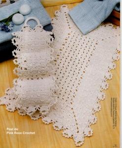 Tapete de Crochet c Barbante p Banheiro 02