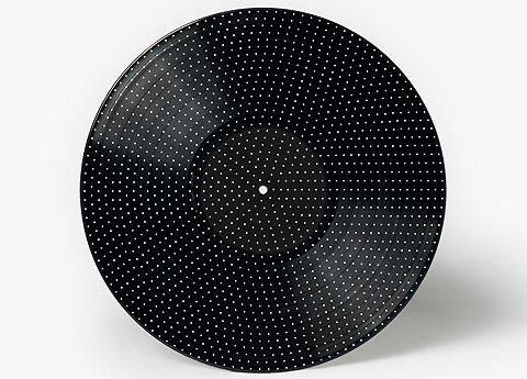 Vinyl record plays stop motion animation as it plays music. By Michael Hansen.