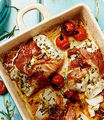 Baked cod with a prosciutto twist | Sainsbury's