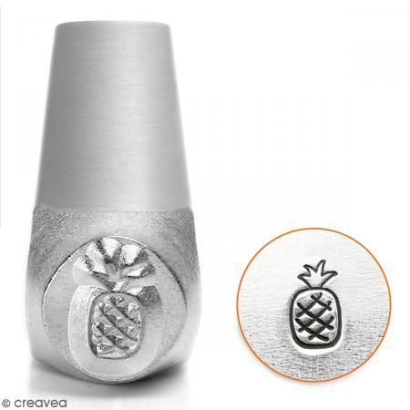 Tampon poinçon pour gravure métal - Ananas - 6 mm - Photo n°1