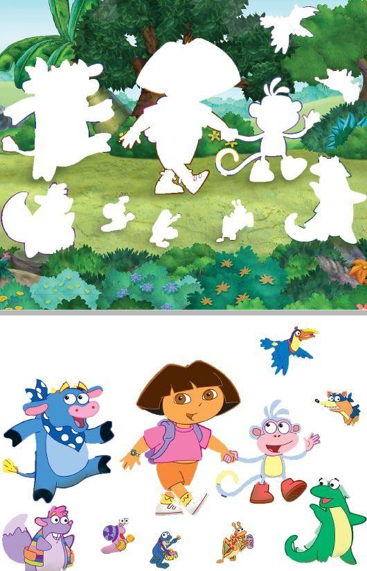 Sombras de Dora y sus amigos