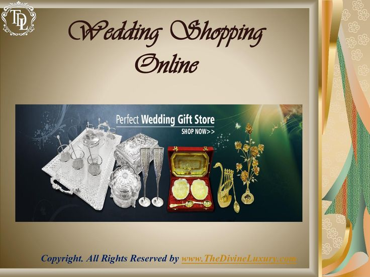 shopping is much easier now at online wedding stores which not only gives wedding gift ideas