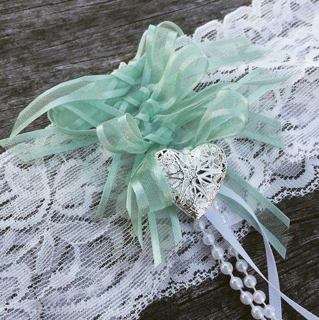Mint green garters!