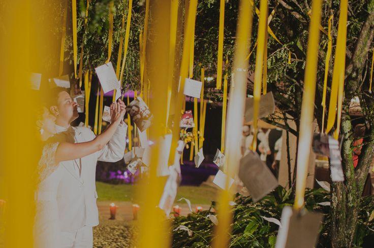 Árbol de deseos, sueños y esperanzas.