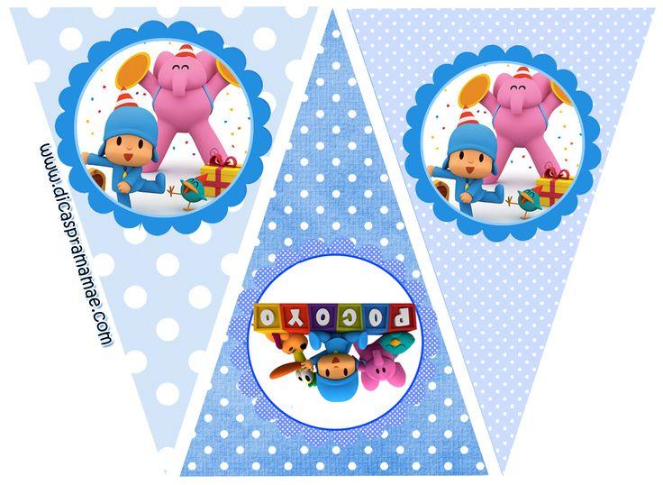 Olá Pessoal!!!!     Quem ai quer festa?? Vamos fazer uma festinha do Pocoyo? Neste post eu trouxe tags, bandeirinhas e convites, grátis, só...