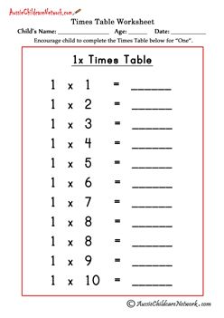 Multiplication times tables worksheets jax math for 85 times table