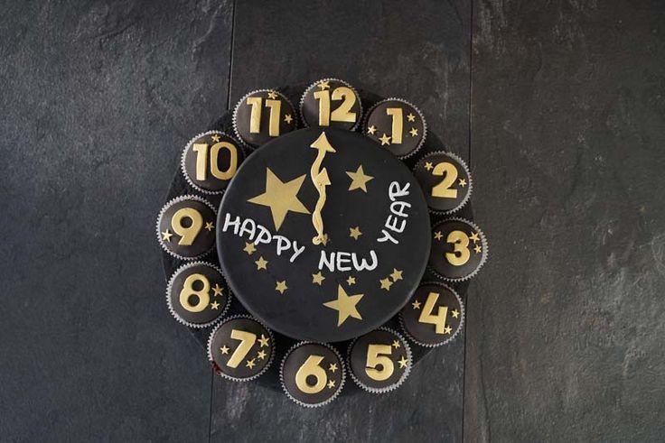 Silvester Torte / Uhr Torte / New Years Cake