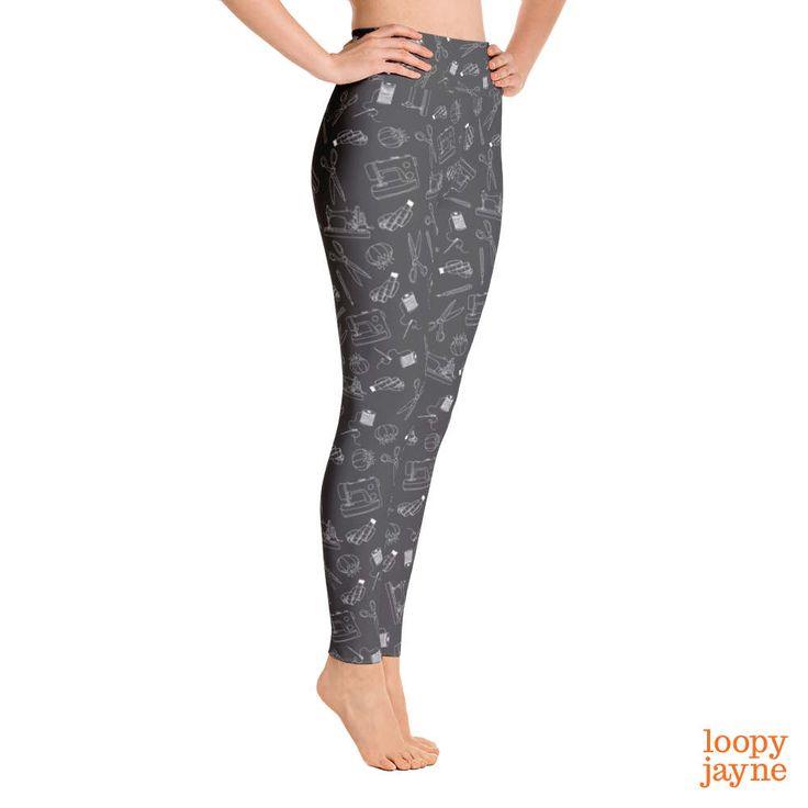 Sewing Equipment Yoga Leggings by Loopy Jayne