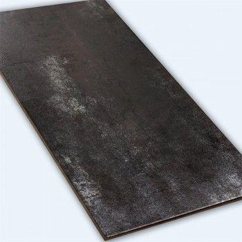 Bodenfliesen Metall Optik Silber 45x90cm