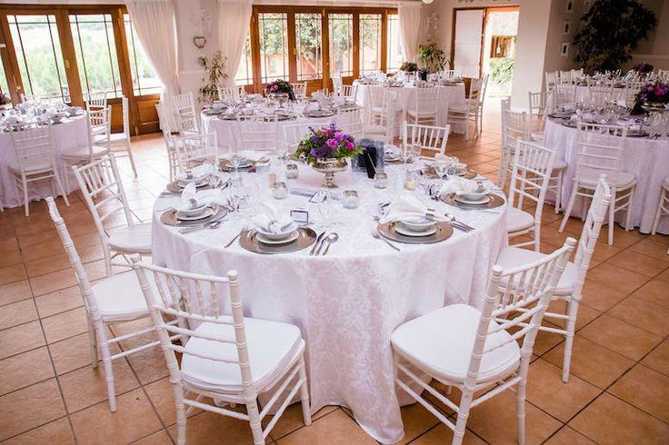 Bright Pink & Purple Bouquet. Navy Blue Bridesmaids. Gorgeous Bride, Gorgeous Flowers. Calderwood Hall. Natural Nostalgia. Décor, Flowers. Silver Rose Bowl - Guest Table Centre Pieces
