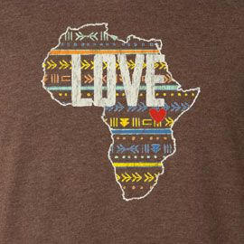 Close-Up of Love/Africa t-shirt design. Helping to send one fine lady to Uganda to volunteer at an orphanage. #tshirtsforgood