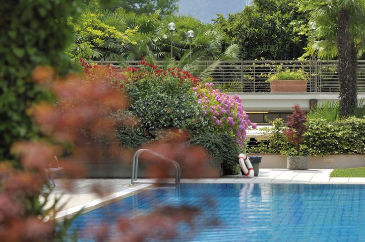 Nestled in the lush greenery of the park there are two pools to relax in the water