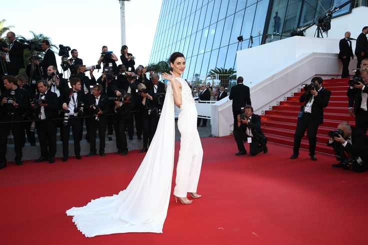 Cansu Dere walks the Red Carpet during the 68th annual Cannes Film Festival on May 18, 2015 in Cannes, France
