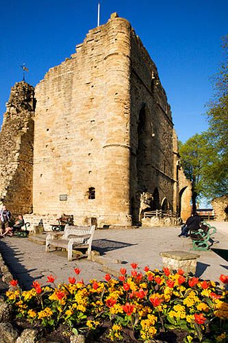 Knaresborough Castle is a ruined fortress overlooking the River Nidd in the town of Knaresborough, North Yorkshire, England.