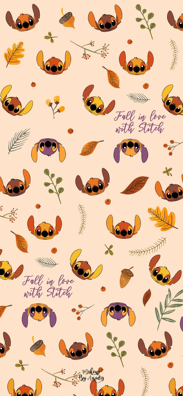 8 Fond d'écran Disney Stitch Fall Wallpaper