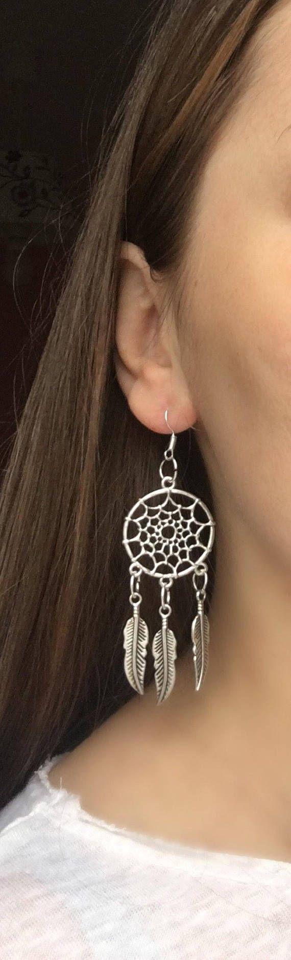 Dream Catcher Earrings Silver Earrings Dreamcatcher