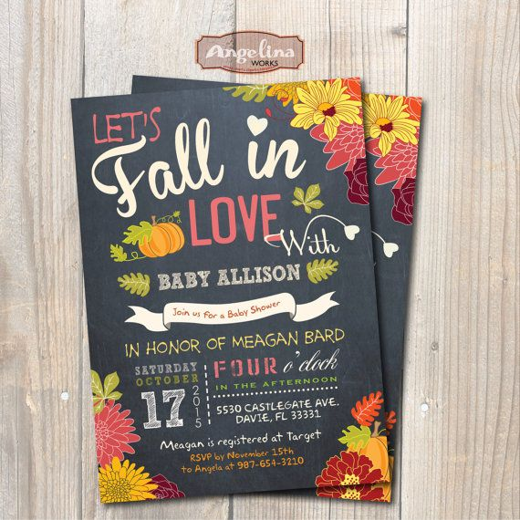 Fall Baby Shower Invitation. Little Pumpkin Baby by AngelinaWorks