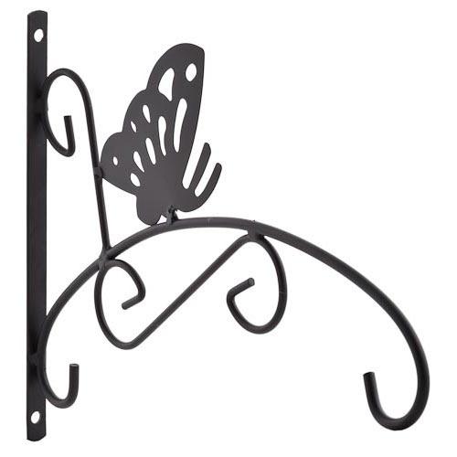 Art Deco Hanging Basket Brackets : Butterfly hanging basket bracket poundland love these