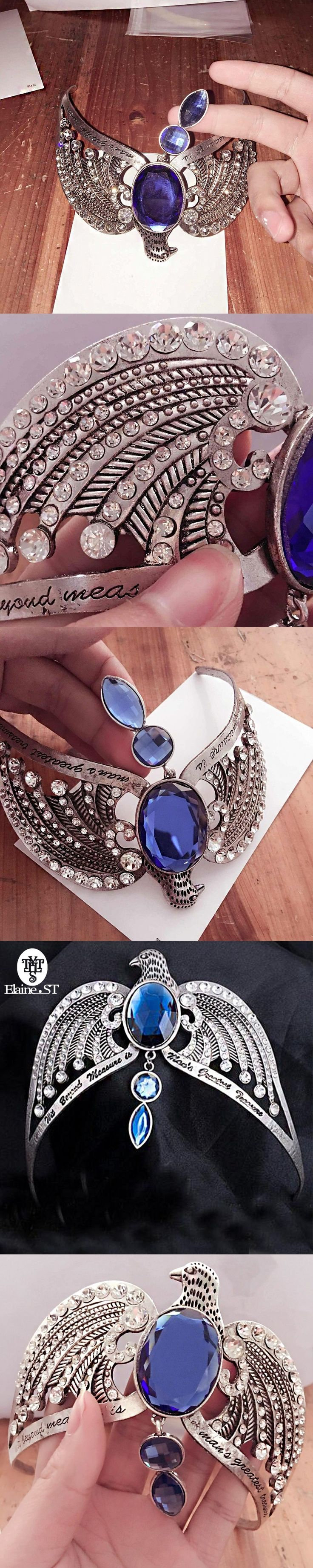 Hermione Jane Granger The Eagle Crown Ravenclaw lose Crown Horcrux Bridal Hairbands Crystal Headbands women Wedding Accessories