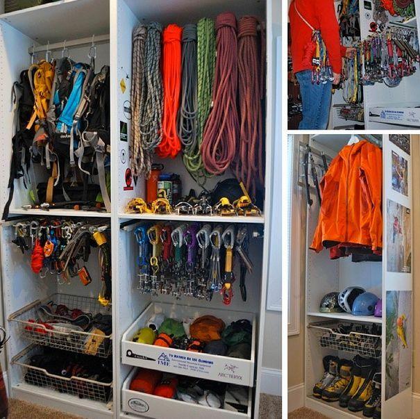Gear closet organization