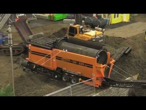 RC CONSTRUCTION SITE DRUM SCREENING MACHINE RC TROMMELSIEBMASCHINE / Intermodellbau Dortmund 2015 - YouTube