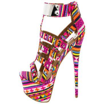 Women's Dollhouse Aztec Guardian Women's High Heel Pumps