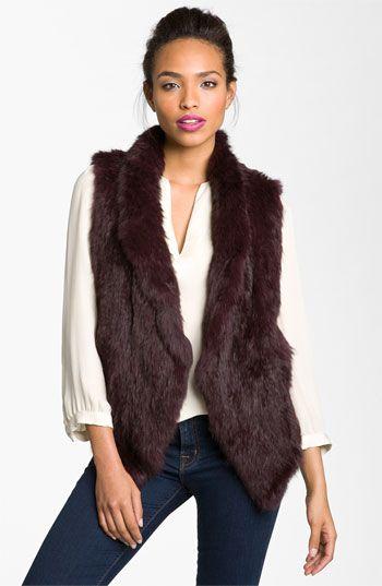 June Genuine Rabbit Fur Vest (Online Exclusive) #NSale #Nordstrom