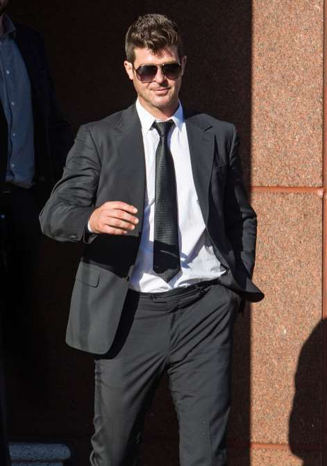 CUSTODY STRIKEOUT  Robin Thicke's lawyers went to court on Feb. 8, 2017, to try to change his custody arrangement with ex-wife Paula Patton regarding their 6-year-old son, Julian. He asked for three different amendments and went 0 for 3. Currently, he sees his son for a few hours on Thursday, Friday and Saturday in the presence of a court-appointed monitor.   More...