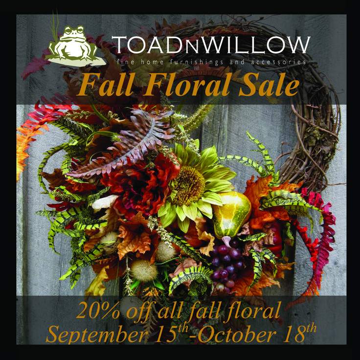 The Fall Floral sale is coming soon!