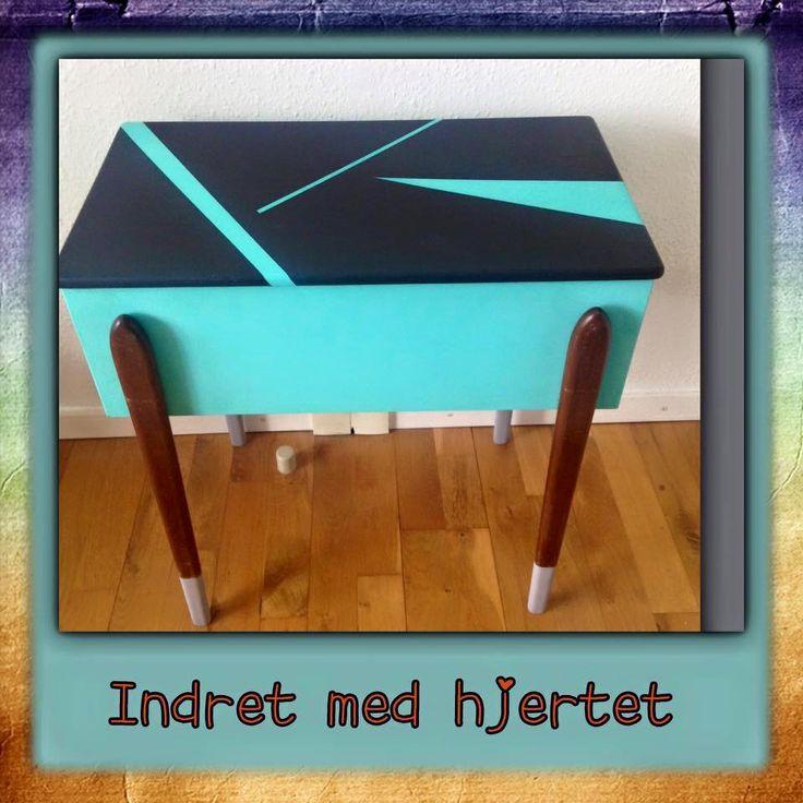 Retro sybord malet med Nordic Chic i friske farver