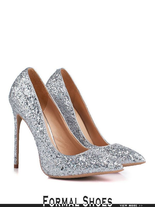 ddbeb21c1d68 Sparkly Sequin Silver Wedding Shoes For 2018 Brides  MSL-7833 ...