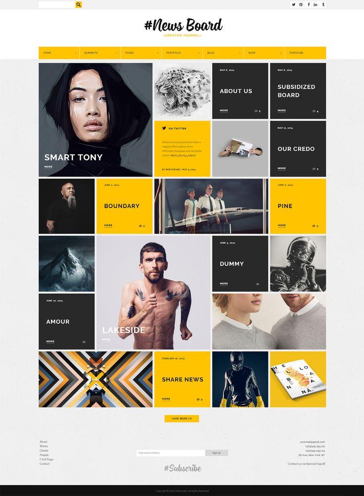 News Board - WordPress Theme on Behance