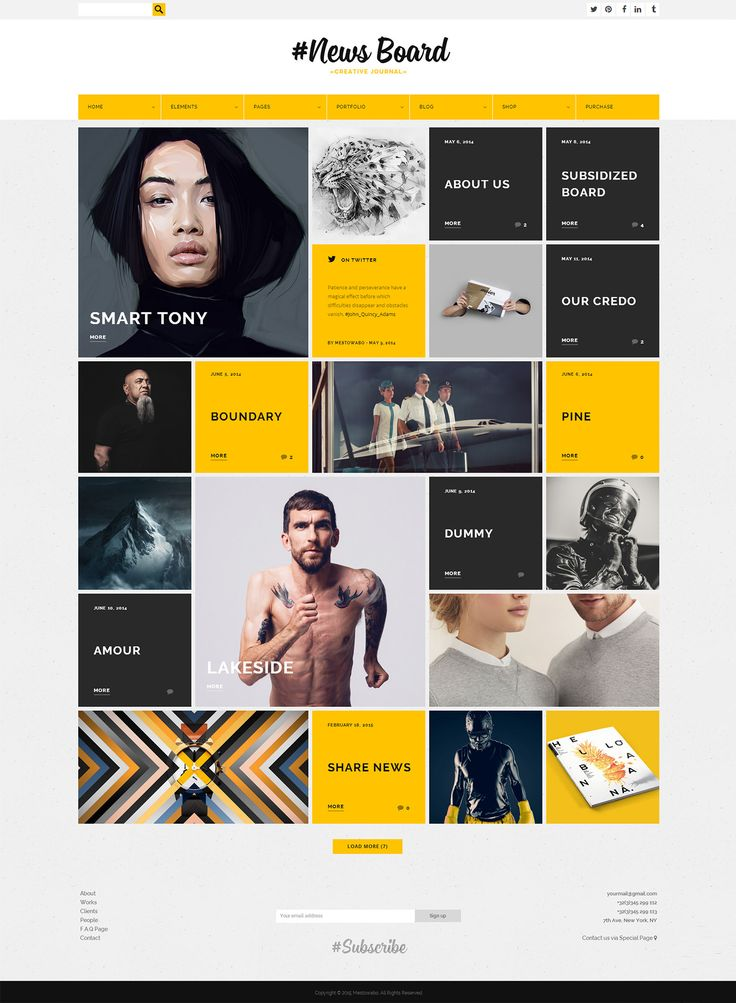 News Board - WordPress Theme on Behance
