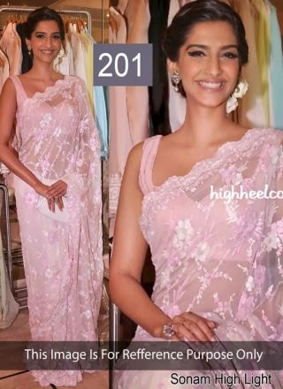 Lovely Pink Brasso Fabric Cut Work Bollywood Saree http://www.angelnx.com/Sarees/Bollywood-Sarees