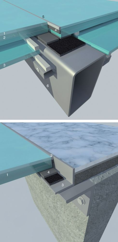 #architecture #detail glass floor system at steel joist connection