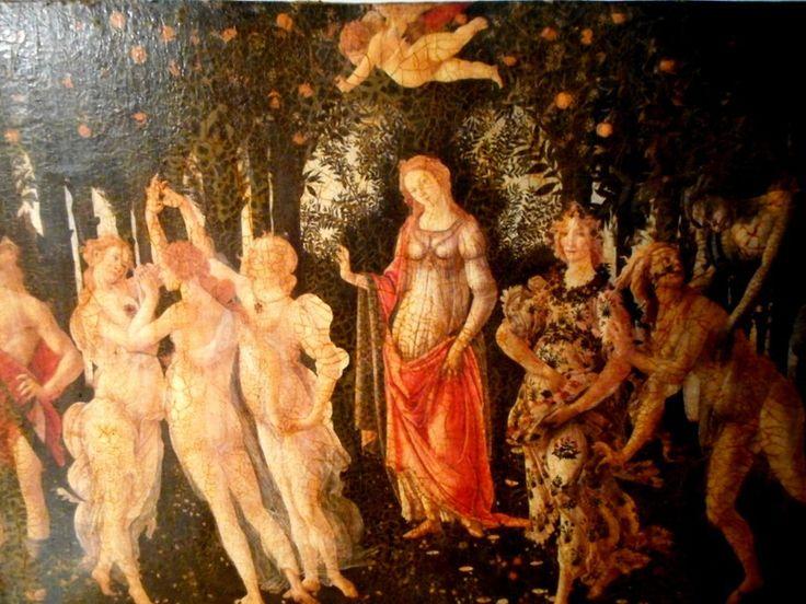 Reproduction sur bois. Le printemps de Sandro Boticelli XV ieme siécle : Collages par josephacreations