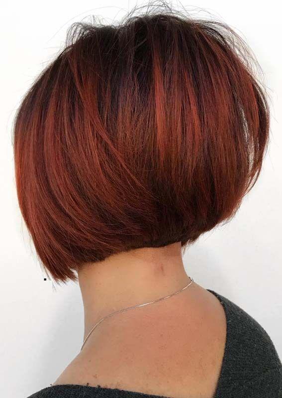 Short Red Bob Haircuts For Women 2018 Womenshaircutstoshowyourstylist Bob Hairstyles Short Bob Hairstyles Red Bob Haircut