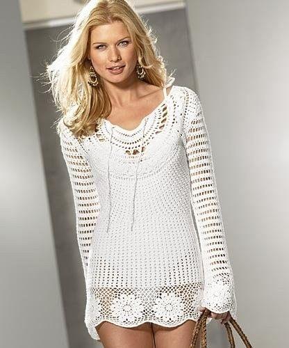 Materiales gráficos Gaby: Tùnica vestido y chales en crochet