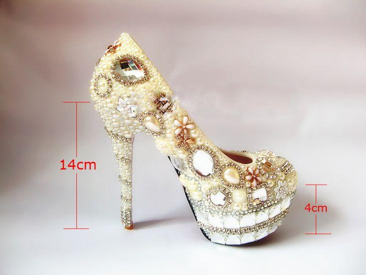 Новая коллекция весна ручной имитация груша свадебные туфли кристально круглых ботинки пальца ноги леди ну вечеринку обувь женщины вечерние туфли на высоких каблуках