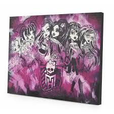 Monster High LED Light Up Canvas Wall Art With LED Light Up Effects And