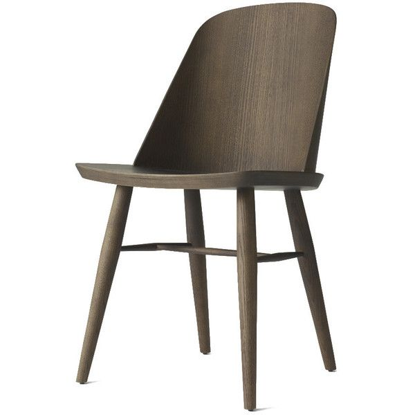 Synnes Dining Chair in Dark Ash design by Menu (€380) ❤ liked on Polyvore featuring home, furniture, chairs, dining chairs, ash wood furniture, ashwood furniture and ash furniture