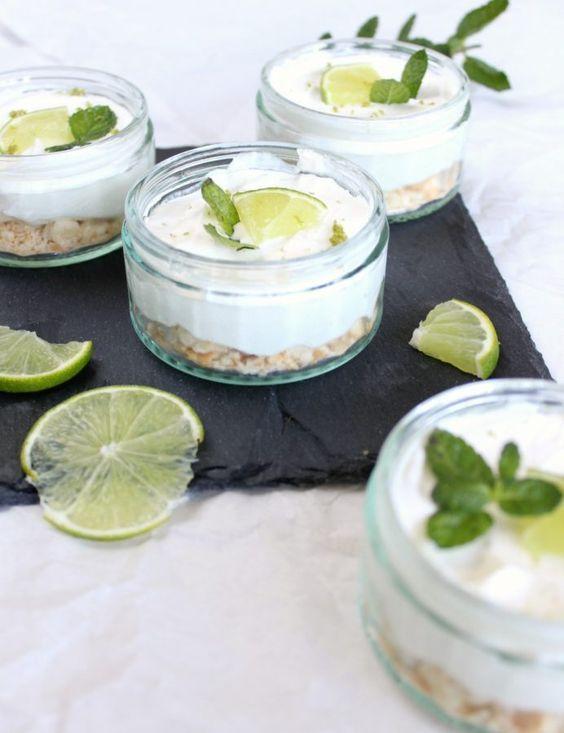 Key Lime Pie im Glas mit Kondensmilch und Limetten! Rezept am greenorangeblog