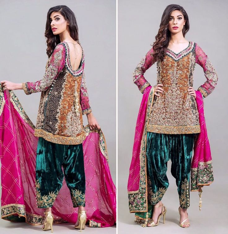 Nickie Nina. The stunning velvet shalwar gives a new meaning to royalty