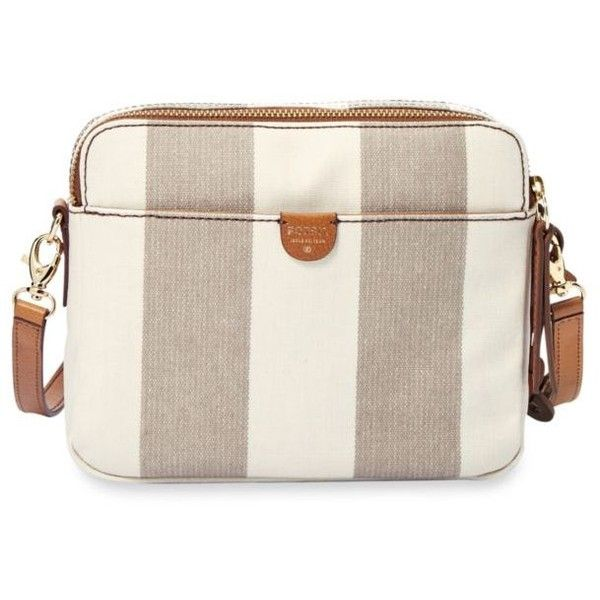 Fossil Neutral Stripe Sydney Crossbody 86 Liked On Polyvore Featuring Bags