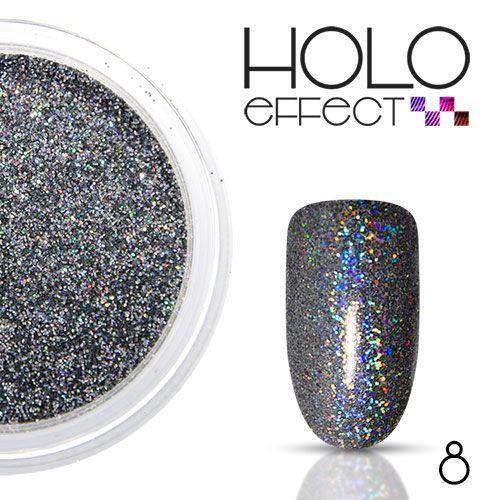 hologram glitter effect 8 zwart