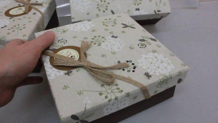 Набор подарочных коробок из 3шт  Квадрат Гортензия Артикул 12955 2