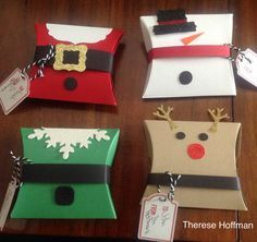 Stampin Up Square Pillow Boxes for the holiday                                                                                                                                                      More