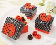 "wedding candy box baby shower favor box--party Decorations candy packing ""Cute as a Bug"" 3-D Wing Ladybug Favor Box 50pcs/lot"