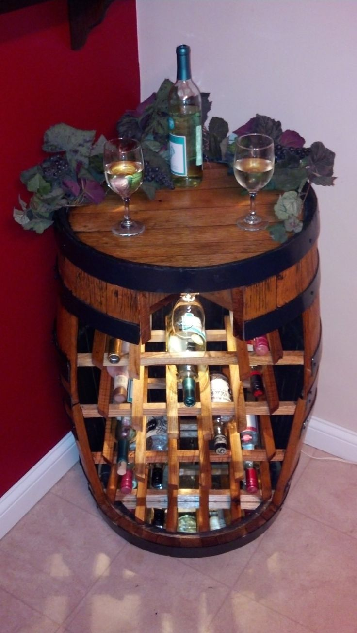 Whiskey Barrel Wine Rack Wine Theme Kitchendiy
